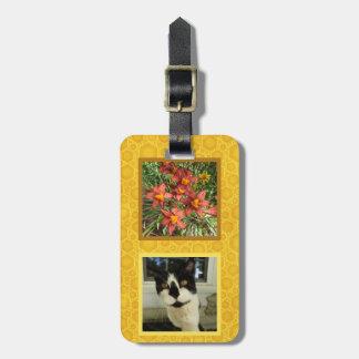 Create Your Own 2 Square Instragram Photo Honey Bag Tag