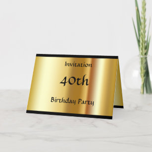 Create Your Own 40th Birthday Invitation Card
