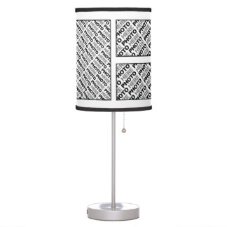 Create Your Own Add 6 Mixed Photos Table Lamp