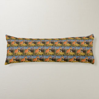 Create Your Own African Jungle colorful pattern Body Pillow
