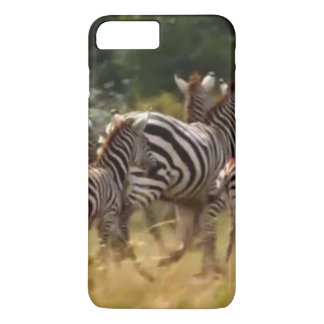 Create Your Own African Zebra On the Run iPhone 8 Plus/7 Plus Case