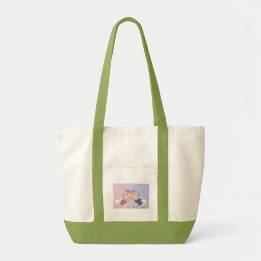 Create your own baby shower design impulse tote bag