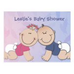 Create your own baby shower design postcards