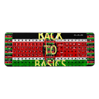 Create Your own Back 2 Basic Black Red Green White Wireless Keyboard