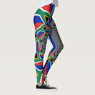 Create your own Beautiful South Africa flag Colors Leggings