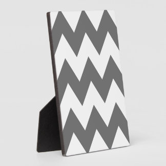 Create Your Own Big Charcoal Zigzag Pattern Plaque
