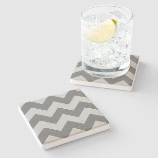 Create Your Own Big Charcoal Zigzag Pattern Stone Coaster