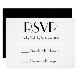 Create Your Own Black and White RSVP Card