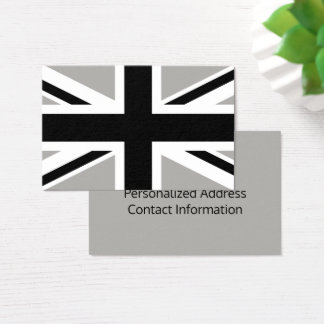 Create Your Own Black and White Union Jack Business Card