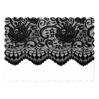 Create your own | Black lace Card