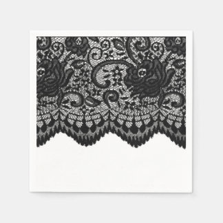 Create your own | Black lace Disposable Napkins