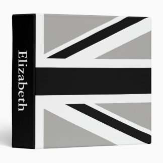 Create Your Own Black Union Jack Binders