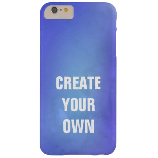 Create Your Own Blue Watercolor Painting Barely There iPhone 6 Plus Case