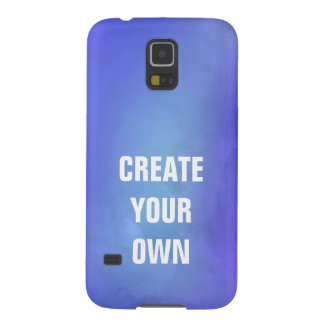 Create Your Own Blue Watercolor Painting Galaxy S5 Case