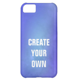 Create Your Own Blue Watercolor Painting iPhone 5C Covers
