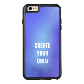 Create Your Own Blue Watercolor Painting OtterBox iPhone 6/6s Plus Case