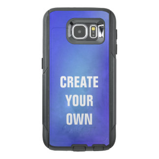 Create Your Own Blue Watercolor Painting OtterBox Samsung Galaxy S6 Case