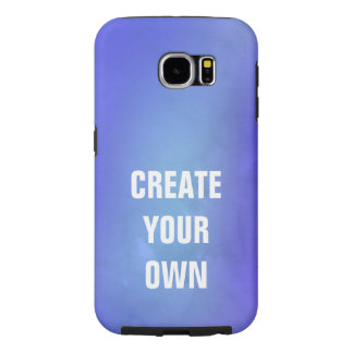Create Your Own Blue Watercolor Painting Samsung Galaxy S6 Cases