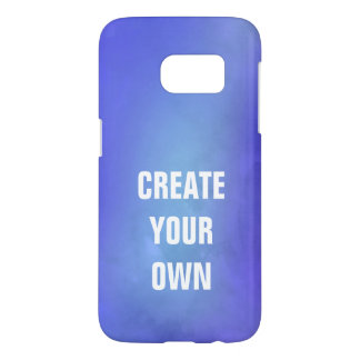 Create Your Own Blue Watercolor Painting Samsung Galaxy S7 Case