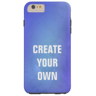 Create Your Own Blue Watercolor Painting Tough iPhone 6 Plus Case
