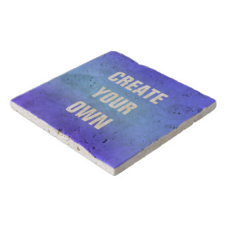 Create Your Own Blue Watercolor Painting Trivet