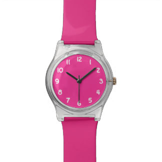 Create Your Own Bright Pink Wrist Watches