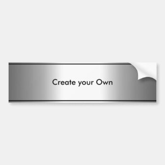 Create your own Bumper Sticker Silver & Black trim