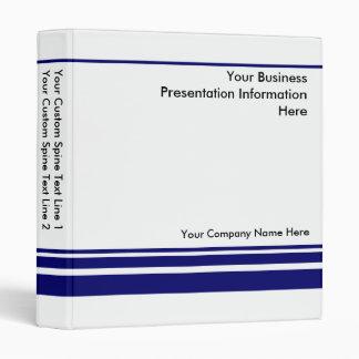 Create Your own Business Presentation Binder -Blue