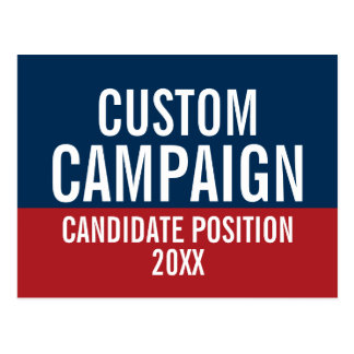 Create Your Own Campaign Gear Postcard