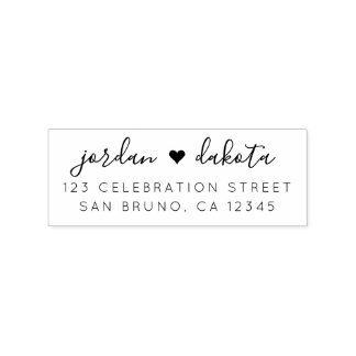 Create Your Own Chic Wedding Return Address Rubber Stamp