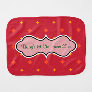 Create Your Own Christmas Patterned Holiday Burp Cloth