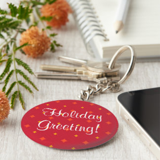 Create Your Own Christmas Patterned Holiday Keychain