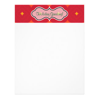 Create Your Own Christmas Patterned Holiday Letterhead