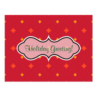 Create Your Own Christmas Patterned Holiday Postcard