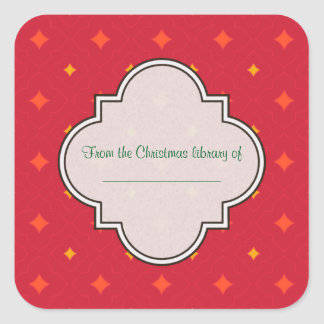 Create Your Own Christmas Patterned Holiday Square Sticker