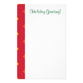 Create Your Own Christmas Patterned Holiday Stationery