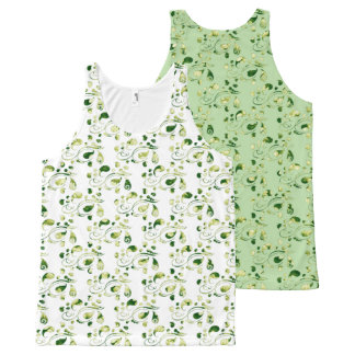 Create Your Own Color Change Green Paisley All-Over-Print Tank Top