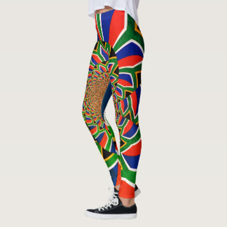 Create your own  Colorful Beautiful South Africa Leggings