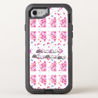 Create Your Own Colorful cute pretty princess OtterBox Defender iPhone 8/7 Case