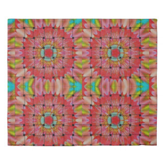 Create Your Own Colorful cute pretty woven floral Duvet Cover