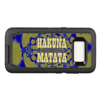 Create Your Own Colorful Hakuna Matata cute pretty OtterBox Defender Samsung Galaxy S8 Case
