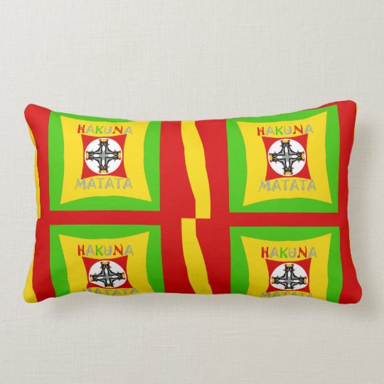 Create Your Own Colourful Funny colours art design Lumbar Pillow