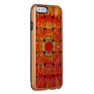 Create Your Own Colourful Hakuna Matata cute Incipio Feather® Shine iPhone 6 Case
