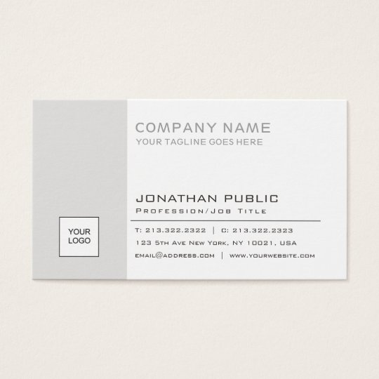 Create Your Own Corporate Plain Elegant Modern Business Card