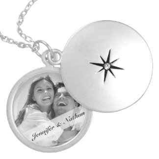 Create Your Own Couples Monogram Photo Locket Necklace