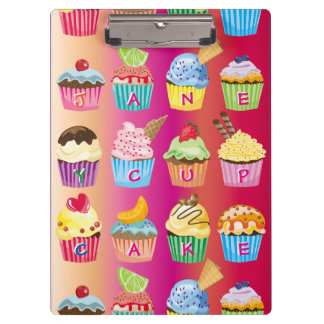 Create Your Own Cupcake Monogram Delicious Treats Clipboard