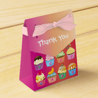 Create Your Own Cupcake Monogram Delicious Treats Favor Box