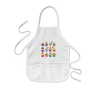 Create Your Own Cupcake Monogram Delicious Treats Kids Apron