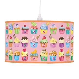 Create Your Own Cupcake Monogram Delicious Treats Pendant Lamp