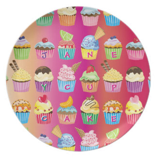 Create Your Own Cupcake Monogram Delicious Treats Plate
